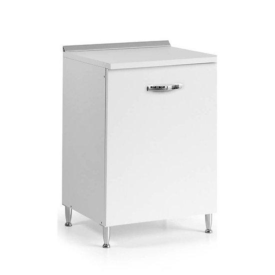 Base cucina con anta 60x50x85H bianco frassinato