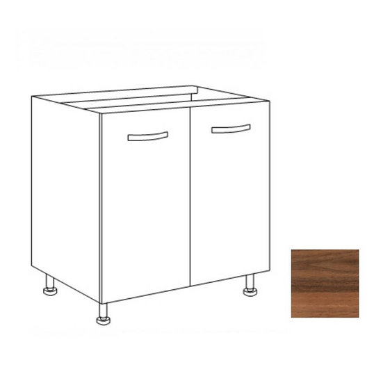 Base cucina 80x60x82H due ante noce country