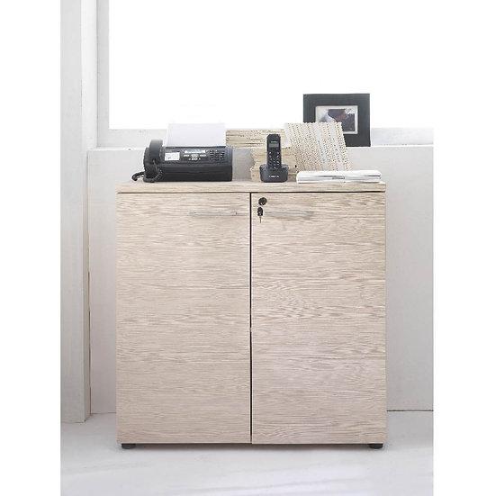 Base mobile per ufficio 2 ante Larix larice beige