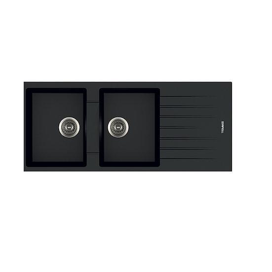 Lavello 116x50 2v PTPL1162 Granito Nero