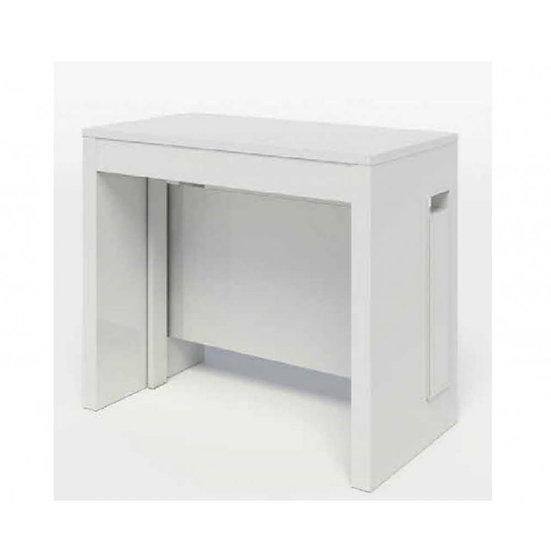 Consolle bianco opaco allungabile 90x40x76 cm. Zoom 5