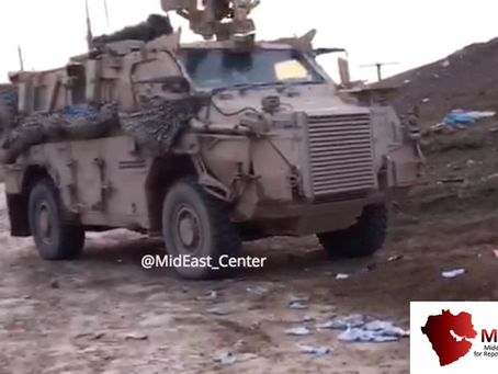 Are these the first images of UK Special Forces vehicles near Hajin?