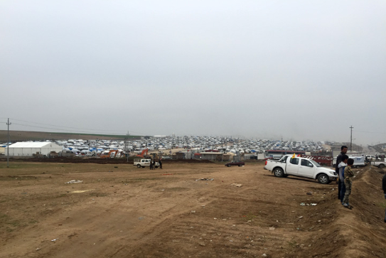 A Yazidi refugee camp in northern Iraq