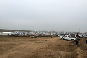 A Yazidi refugee camp in northern Iraq