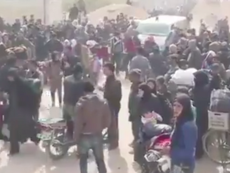 Thousands reported stranded after fleeing Afrin conflict