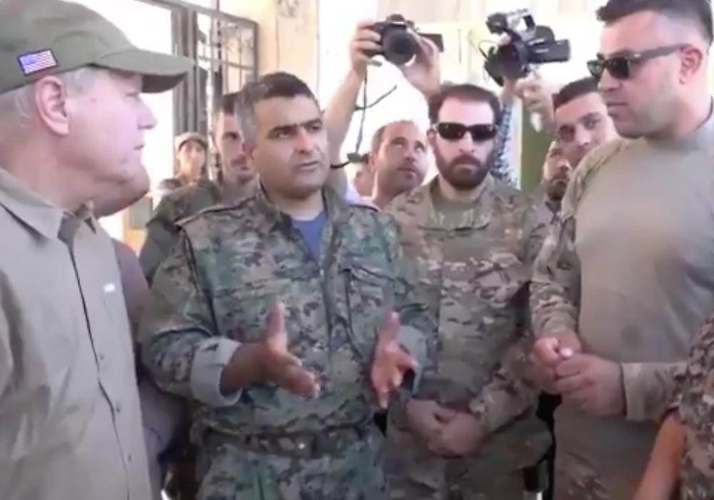 US Senator Lindsey Graham visits eastern Syria in July, 2018