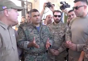 US Senator Lindsey Graham visits eastern Syria in July, 2018