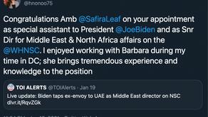 Bahrain's Houda Nonoo congratulates Barbara Leaf on Biden appointment