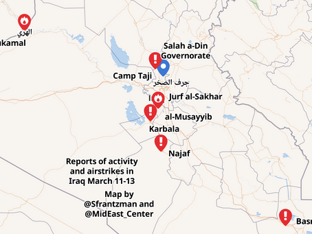 Mapping the US retaliation for the Camp Taji attack March 11-13