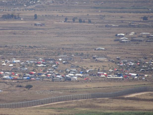 Syrian refugees at al-Rafeed