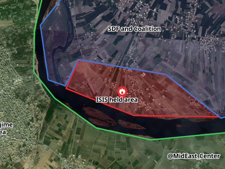 The location of the last SDF battle against the Baghuz ISIS stronghold on the Euphrates