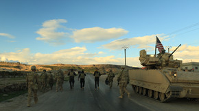 On patrol with US forces in Syria