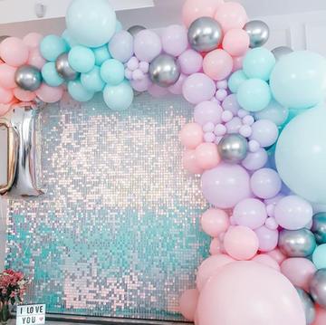 Rainbow Sequin Wall - $150