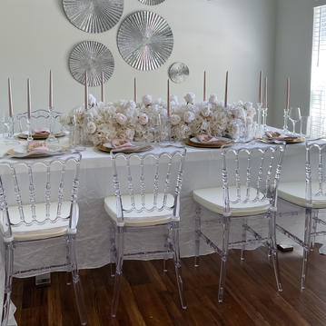 Clear Chairs - $9