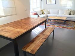 שולחן ספסל שולחן