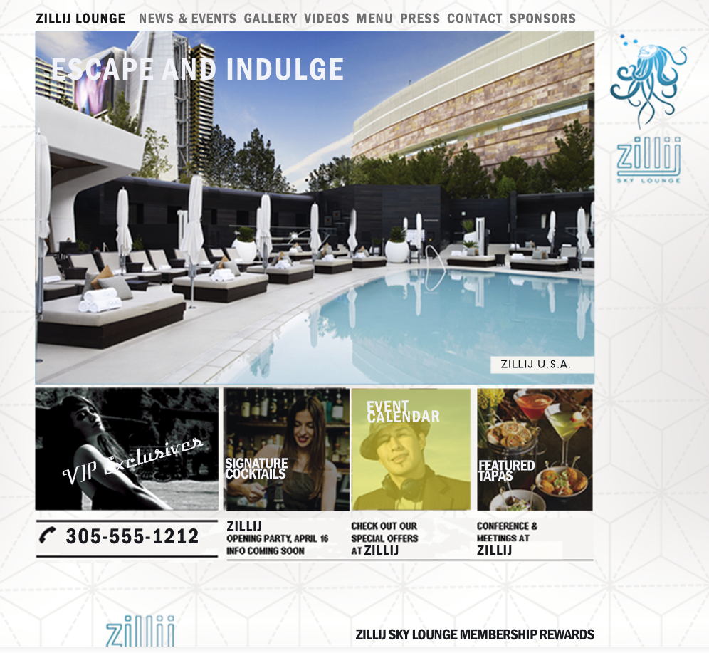 website concept for Zillij