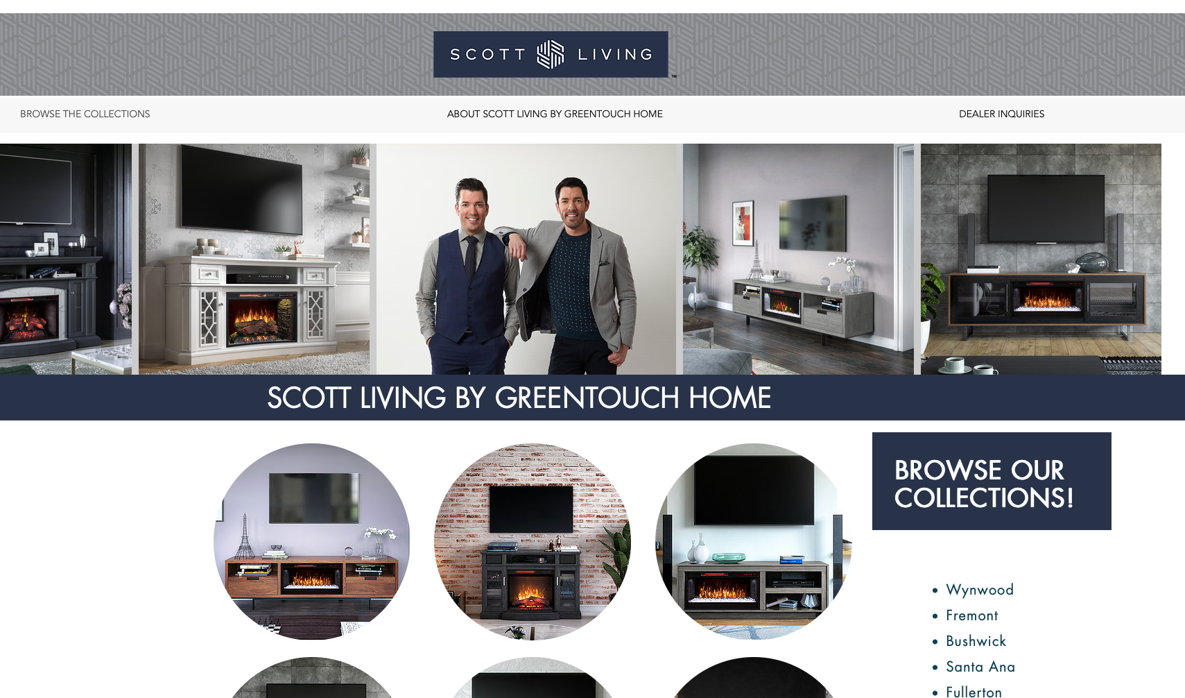 Scott Living by Greentouch Website