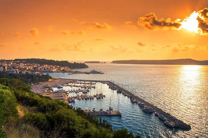 Achilles Hotel Pylos Port Sunset