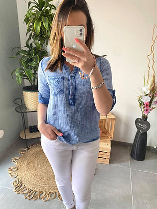 Chemise LEANA bleu jean