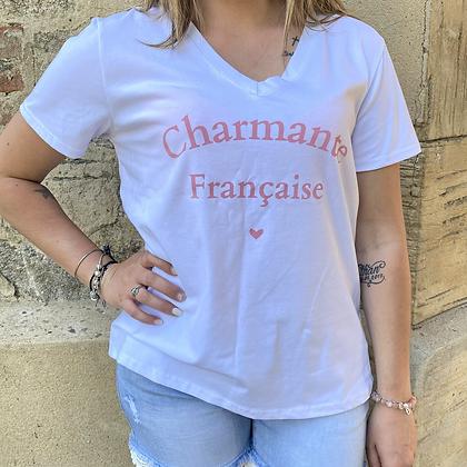 Tee shirt CHARMANTE blanc
