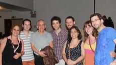 Con el compositor Cergio Prudencio (Chil