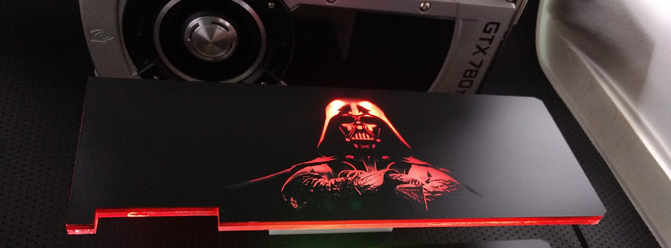 Darth Vader Themed RGB Backplate