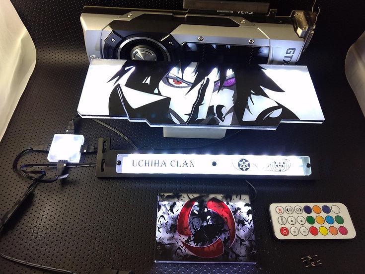 Naruto vs. Sasuke Themed RGB Backplate only