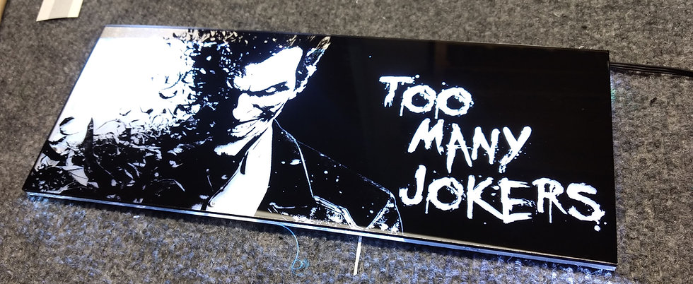 Too Many Jokers  Themed RGB Backplate