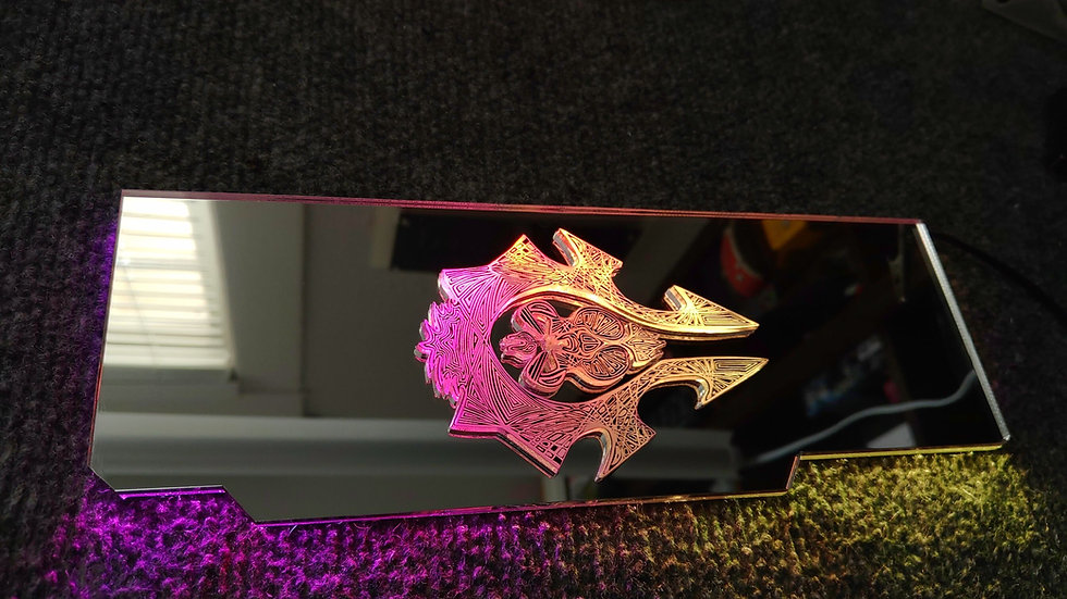 Raised Mirror WOW Themed RGB Backplate