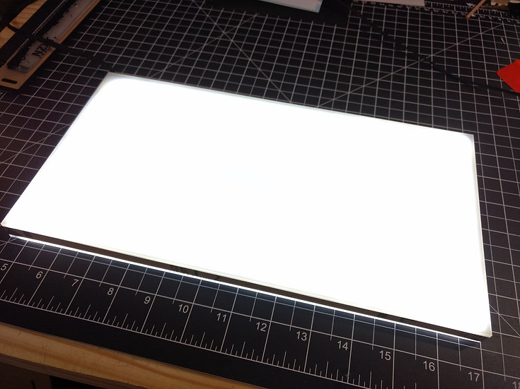lit Basement light box