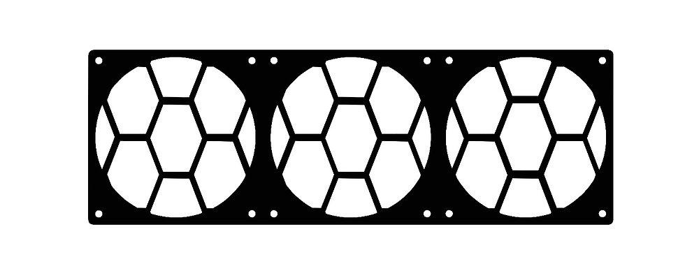 elongated octagon pattern 120 X 360 fan grill
