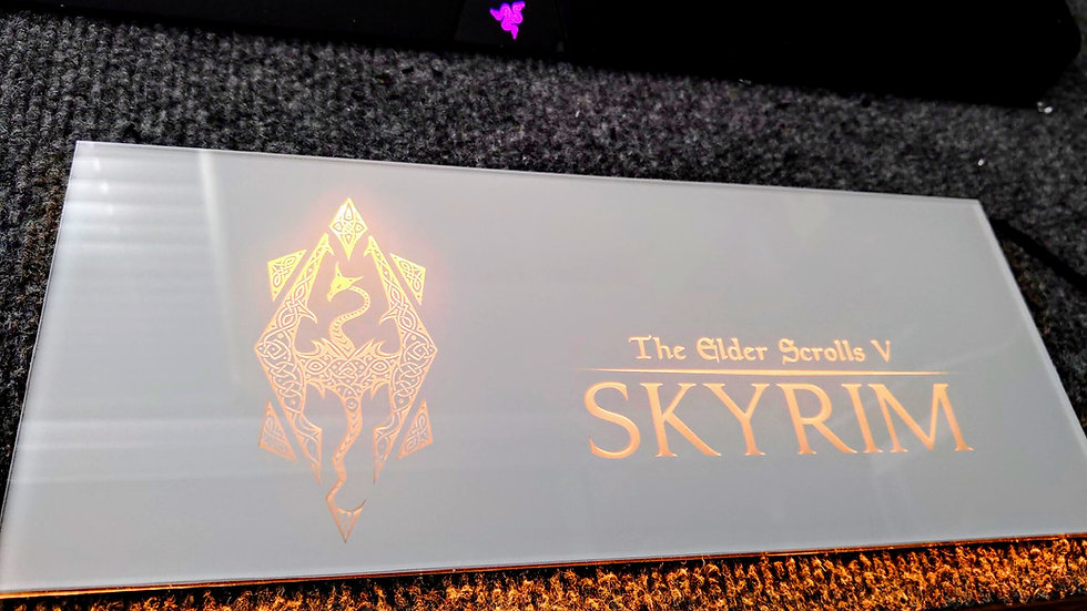 Skyrim Themed RGB Backplate only