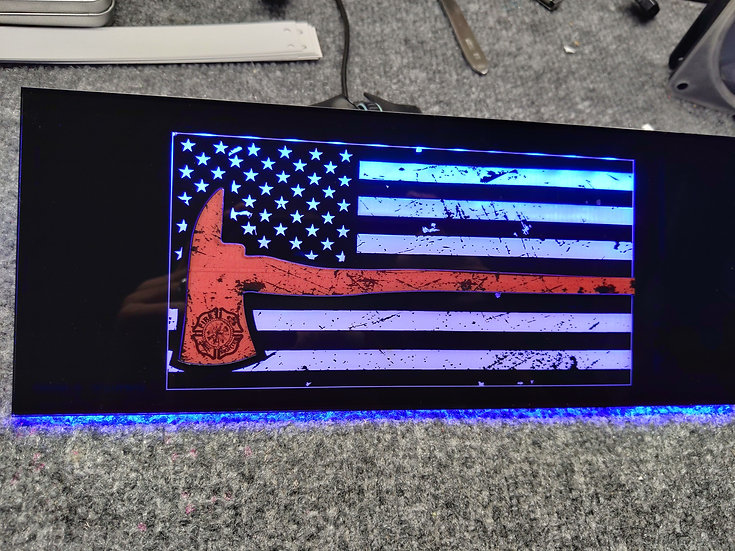 Fire Fighter Themed RGB Backplate