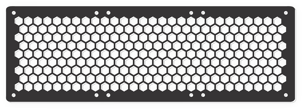 Hexagon Design 120mm X 360mm Fan Grill