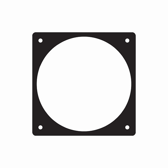120mm x 120mm fan hole template