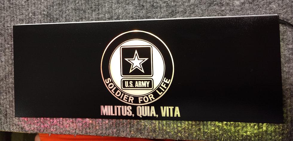 U.S. ARMY Themed RGB Backplate