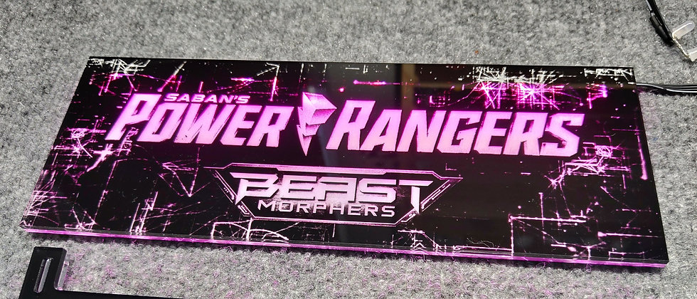 Power Rangers Themed RGB Backplate only