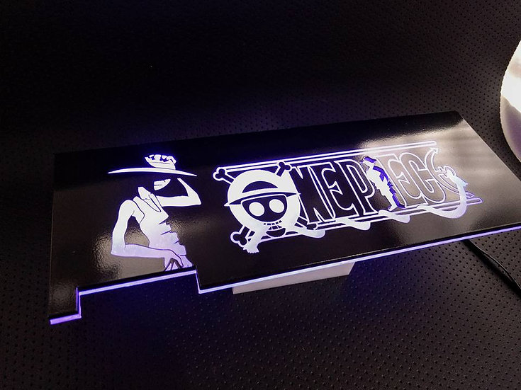 One Piece Themed RGB Backplate only
