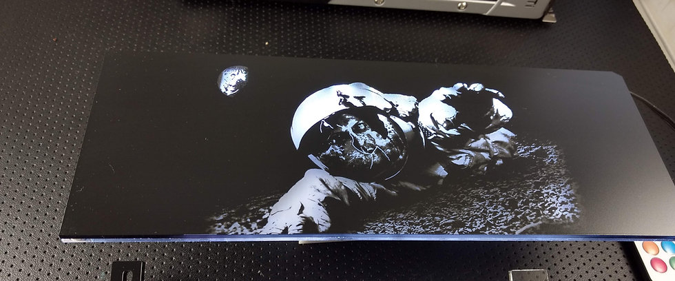 Moon Astronaut Themed RGB Backplate