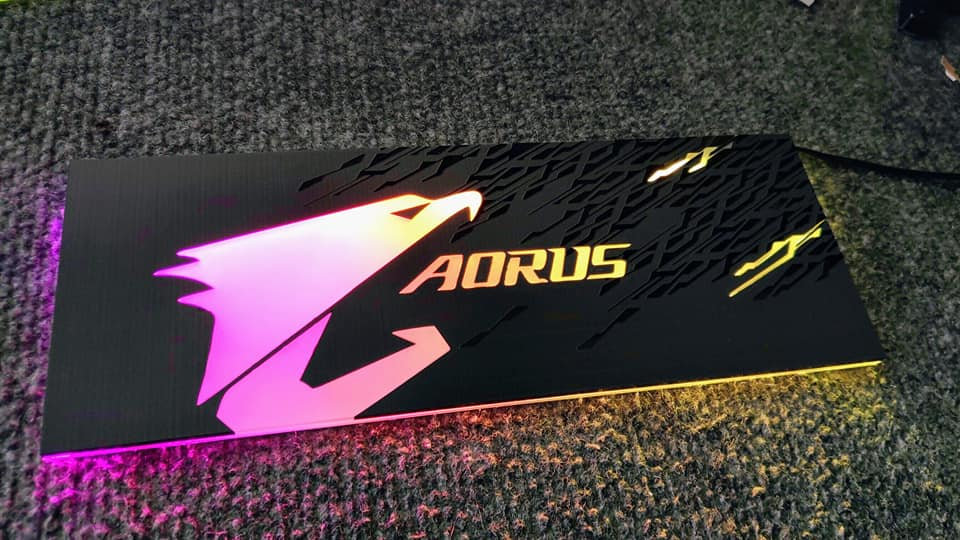 Aorus engraved and frosted RGB GPU Backplate