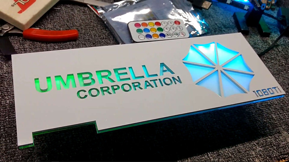Umbrella Corp. Themed RGB Backplate