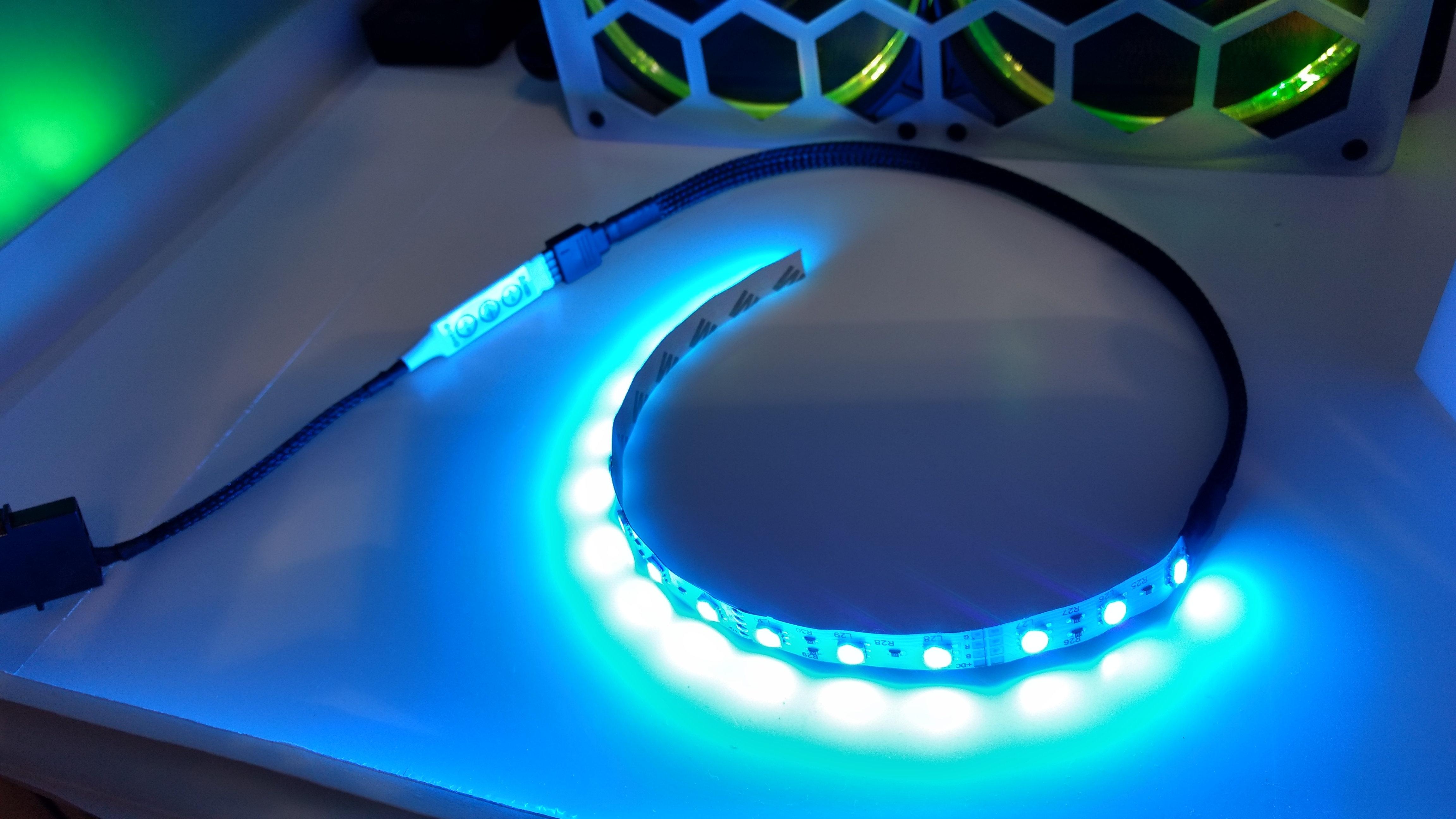 DIY GPU backplate RGB strip with controller