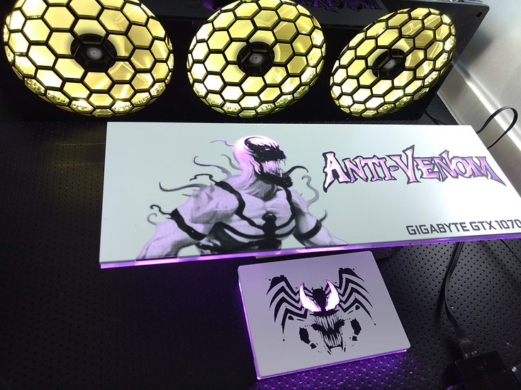 Anti-Venom  Themed RGB Backplate only