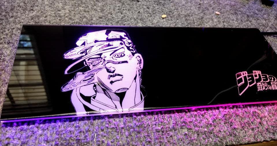 JoJo's Adventure Themed RGB Backplate only