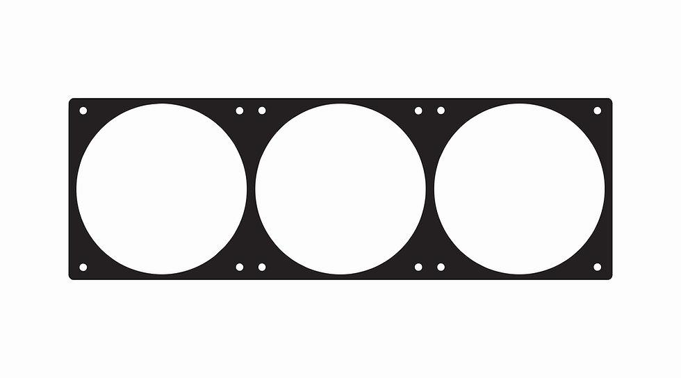 120mm x 360mm fan hole template