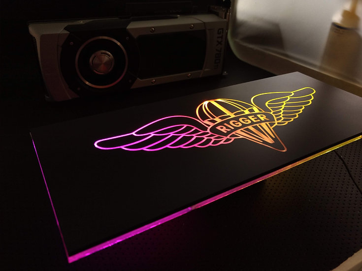 Rigger Themed RGB Backplate