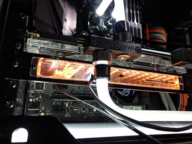 Infinity Mirror Addressable RGB GPU bracket