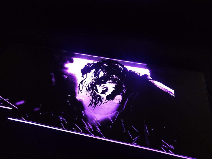Heath Ledger Joker Themed RGB Backplate