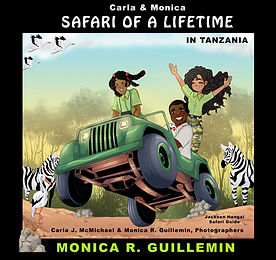 The book Safari of a Lifetime an introduction to ecosystems, ecology, geography and Black Culture.  Written by Monica R. Guillemin, coauthor Carla McMichael.  An Expository transition storybook introducing kids to natural science. Written during COVID-19 quarantine for families to experience a virtual safari.