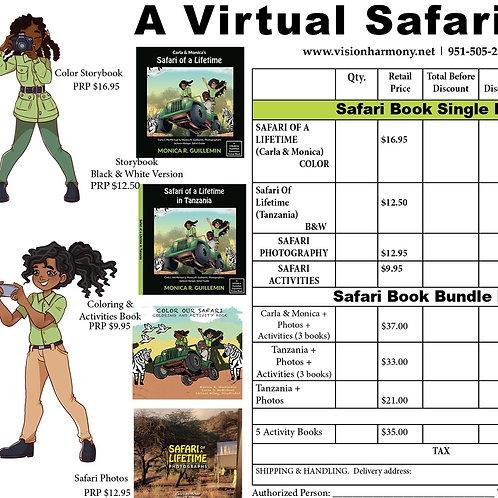 3-BOOK SAFARI BUNDLE- Virtual Safari Bundle
